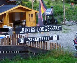 Schild Bikers-Lodge